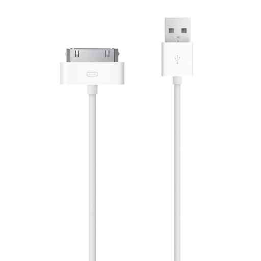 Mobiparts Apple 30 Pin to USB Cable 2.4A 3m White