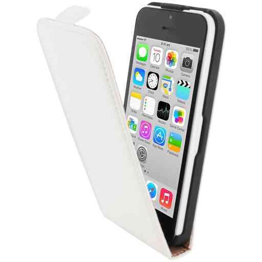 Mobiparts Premium Flip Case Apple iPhone 5C White