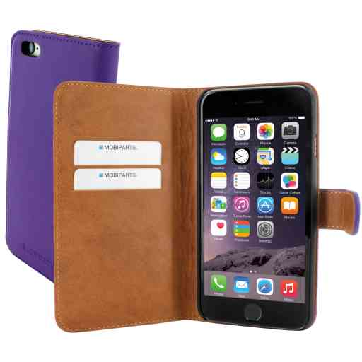 Mobiparts Premium Wallet Case Apple iPhone 6/6S Purple