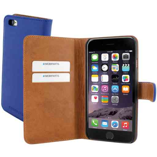 Mobiparts Premium Wallet Case Apple iPhone 6/6S Blue