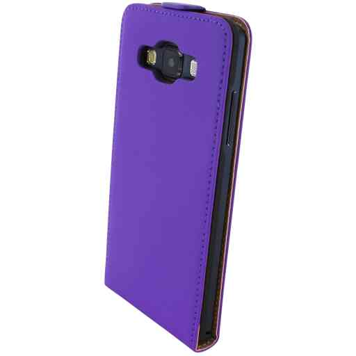 Mobiparts Premium Flip Case Samsung Galaxy A5 Purple