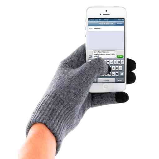 Mobiparts Touchscreen Gloves Grey (Size L)