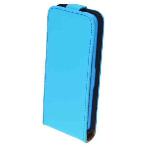 Mobiparts Premium Flip Case Apple iPhone 5C Light Blue
