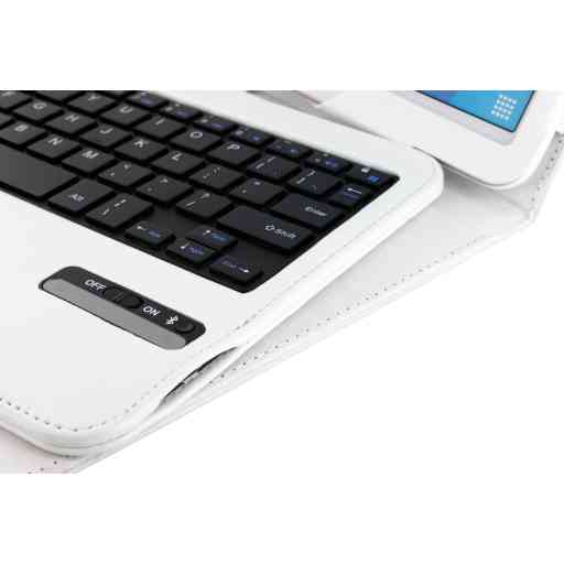 Mobiparts Bluetooth Keyboard Case Galaxy Tab 4 10.1 White