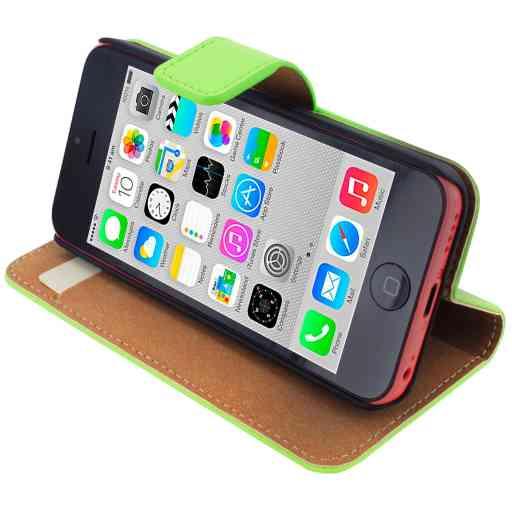 Mobiparts Premium Wallet Case Apple iPhone 5C Green