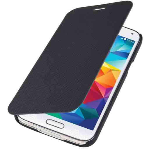 Mobiparts Slim Folio Case Samsung Galaxy S5 Black
