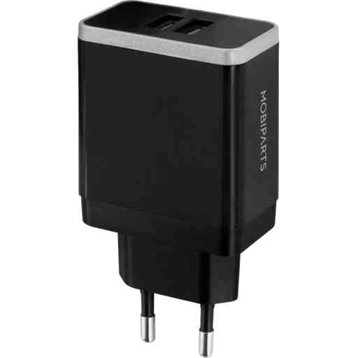Mobiparts Wall Charger Dual USB 2.4A Black
