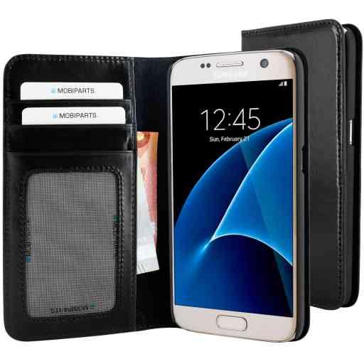 Mobiparts Excellent Wallet Case Samsung Galaxy S7 Jade Black