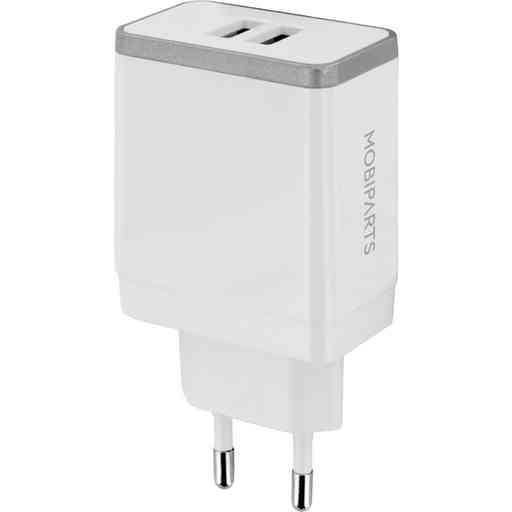 Mobiparts Wall Charger Dual USB 4.8A White