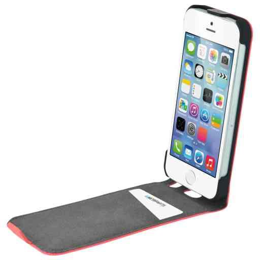 Mobiparts Premium Flip Case Apple iPhone 5/5S/SE Peach Pink