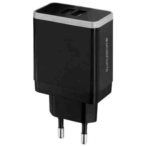 Mobiparts Quick Charge Wall Charger Dual USB 4.6A Black