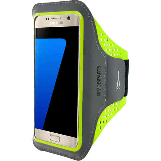 Mobiparts Comfort Fit Sport Armband Samsung Galaxy S7 Neon Green