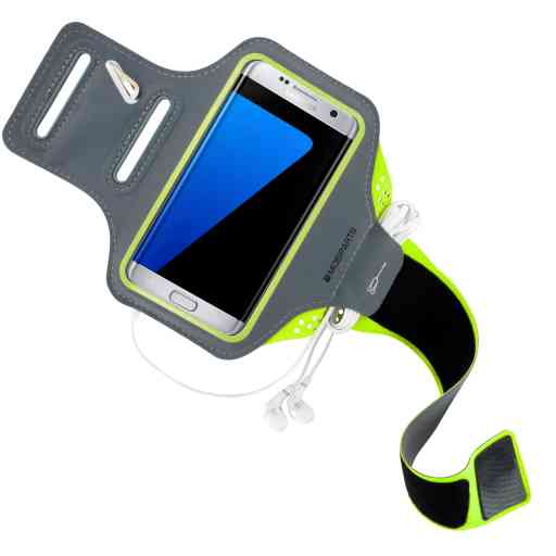 Mobiparts Comfort Fit Sport Armband Samsung Galaxy S7 Edge Neon Green