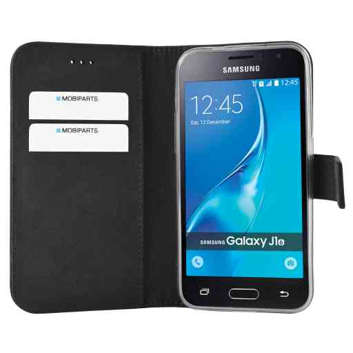 Mobiparts Premium Wallet TPU Case Samsung Galaxy J1 (2016) Black