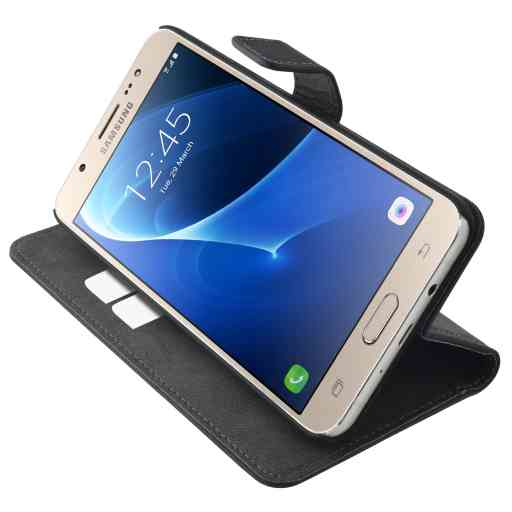 Mobiparts Premium Wallet Case Samsung Galaxy J7 (2016) Black