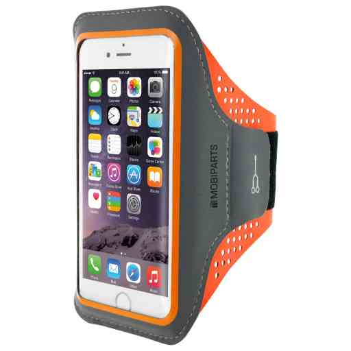 Mobiparts Comfort Fit Sport Armband Apple iPhone 6/6S/7/8/SE (2020) Neon Orange