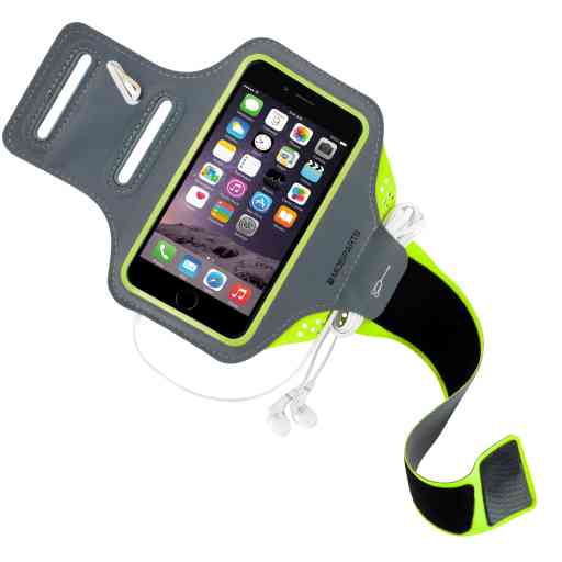 Mobiparts Comfort Fit Sport Armband Apple iPhone 6 Plus/6S Plus/7 Plus/8 Plus Neon Green