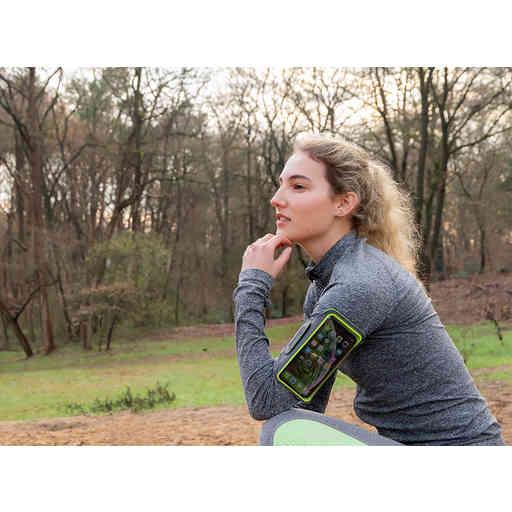 Mobiparts Comfort Fit Sport Armband Apple iPhone 6 Plus/6S Plus/7 Plus/8 Plus Neon Green