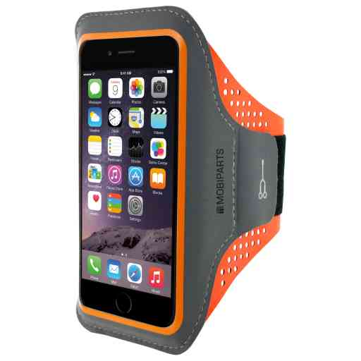 Mobiparts Comfort Fit Sport Armband Apple iPhone 6 Plus/6S Plus/7 Plus/8 Plus Neon Orange