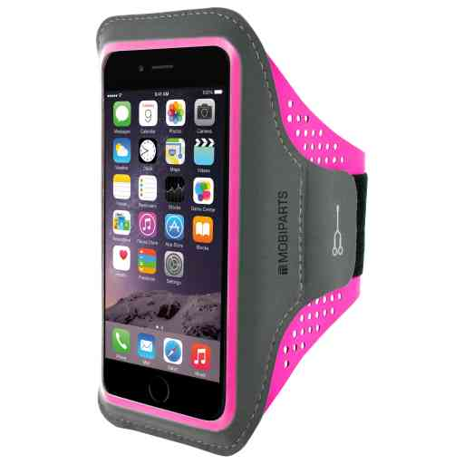 Mobiparts Comfort Fit Sport Armband Apple iPhone 6 Plus/6S Plus/7 Plus/8 Plus Neon Pink