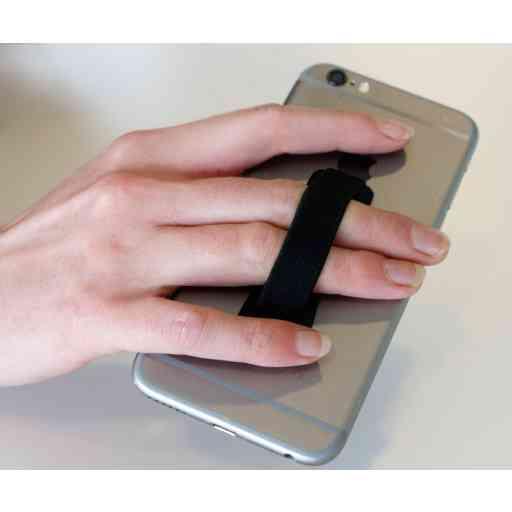 Mobiparts Smartphone & Tablet Elastic Grip Handle Black