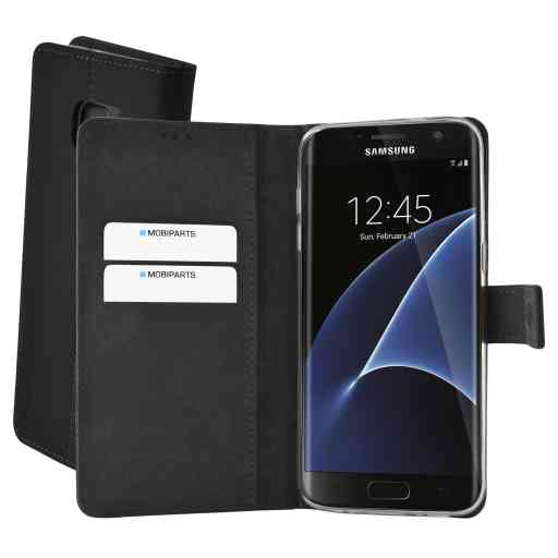 Mobiparts Premium Wallet TPU Case Samsung Galaxy S7 Edge Black