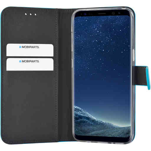 Mobiparts Premium Wallet TPU Case Samsung Galaxy S8 Light Blue