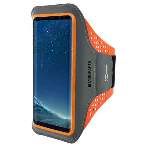 Mobiparts Comfort Fit Sport Armband Samsung Galaxy S8 Neon Orange