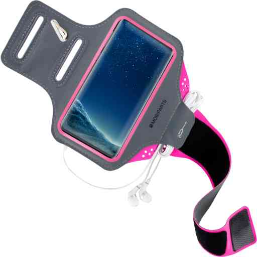 Mobiparts Comfort Fit Sport Armband Samsung Galaxy S8 Neon Pink