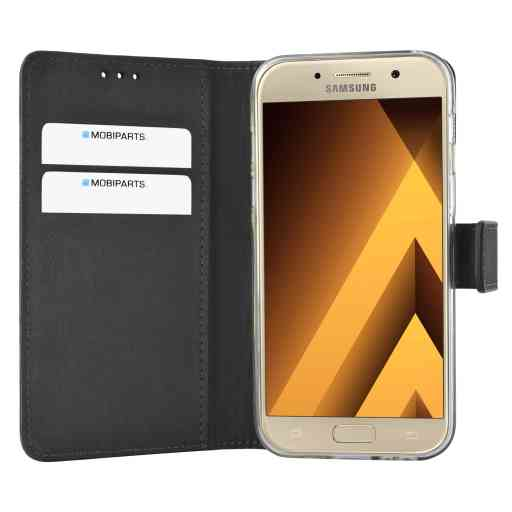 Mobiparts Premium Wallet TPU Case Samsung Galaxy A3 (2017) Black