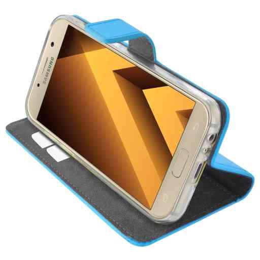 Mobiparts Premium Wallet TPU Case Samsung Galaxy A3 (2017) Light Blue