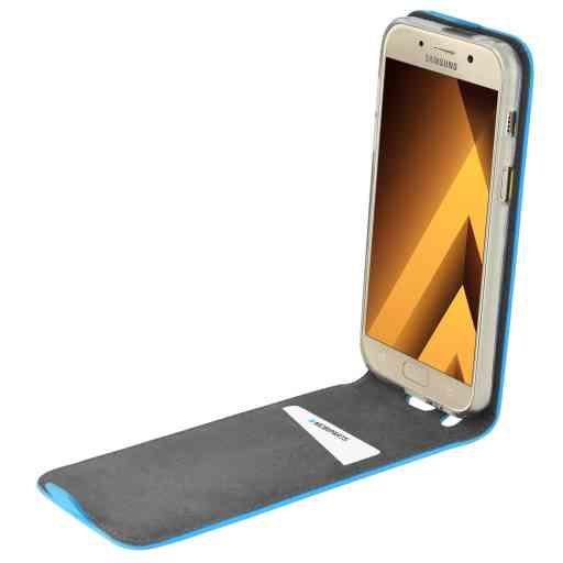 Mobiparts Premium Flip TPU Case Samsung Galaxy A3 (2017) Light Blue