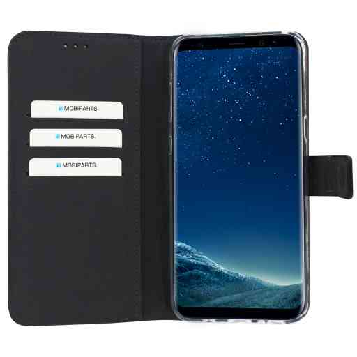Mobiparts Premium Wallet TPU Case Samsung Galaxy S8 Plus Black