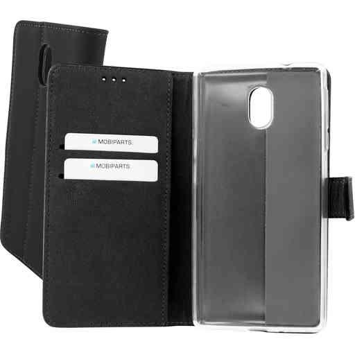 Mobiparts Premium Wallet TPU Case Nokia 3 Black