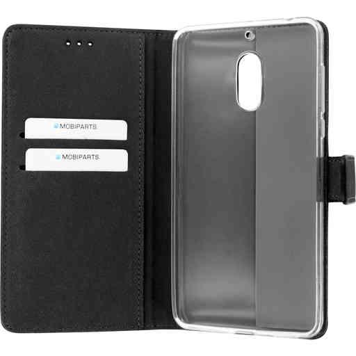 Mobiparts Premium Wallet TPU Case Nokia 6 Black