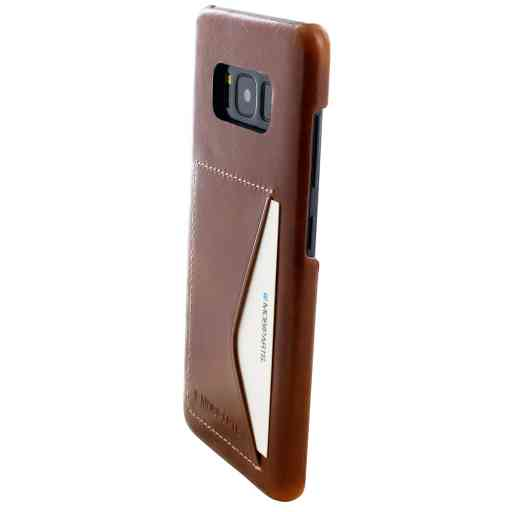 Mobiparts Excellent Backcover Samsung Galaxy S8 Oaked Cognac