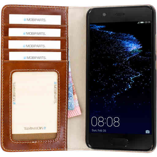 Mobiparts Excellent Wallet Case Huawei P10 Oaked Cognac