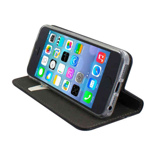 Mobiparts Magnetic Book Case Apple iPhone 5/5S/SE Black