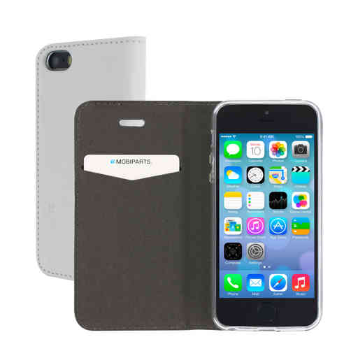 Mobiparts Magnetic Book Case Apple iPhone 5/5S/SE White