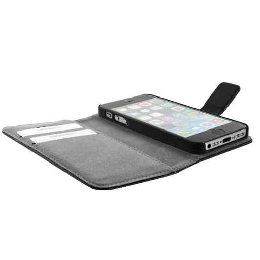 Mobiparts 2 in 1 Premium Wallet Case Apple iPhone 5/5S/SE Black