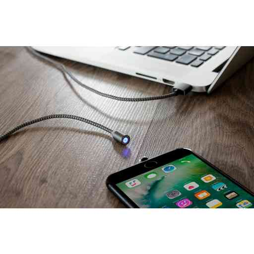 Mobiparts Magnetic Micro USB to USB Cable 1.5A Dark Grey 1M