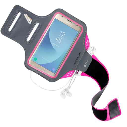 Mobiparts Comfort Fit Sport Armband Samsung Galaxy J3 (2017) Neon Pink