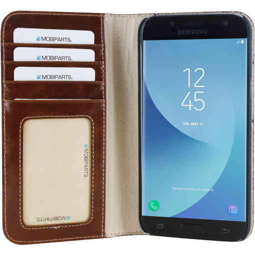 Mobiparts Excellent Wallet Case Samsung Galaxy J5 (2017) Oaked Cognac