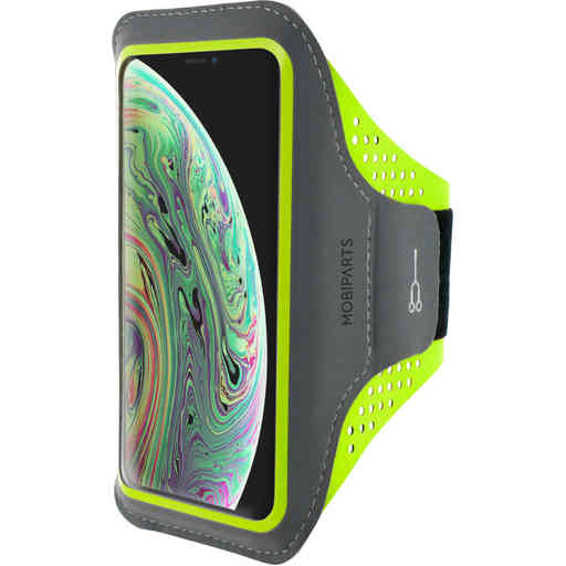 Mobiparts Comfort Fit Sport Armband Apple iPhone X/XS Neon Green