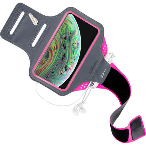 Mobiparts Comfort Fit Sport Armband Apple iPhone X/XS Neon Pink