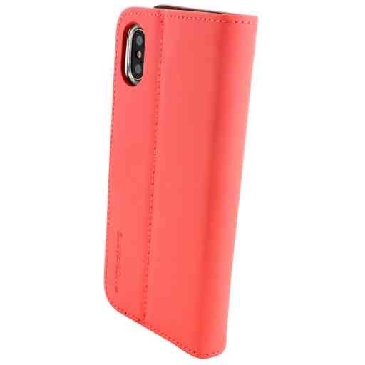 Mobiparts Premium Wallet TPU Case Apple iPhone X/XS Peach Pink