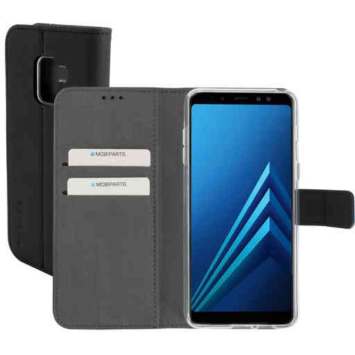 Mobiparts Premium Wallet TPU Case Samsung Galaxy A8 Plus (2018) Black