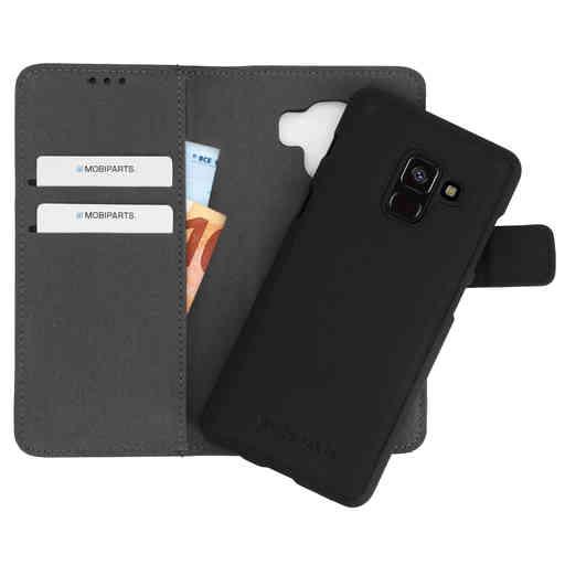 Mobiparts 2 in 1 Premium Wallet Case Samsung Galaxy A8 Plus (2018) Black