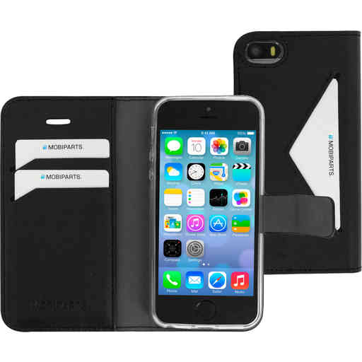 Mobiparts Classic Wallet Case Apple iPhone 5/5S/SE Black