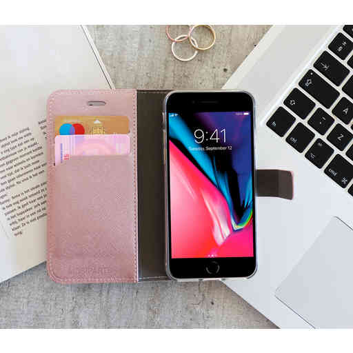 Mobiparts Saffiano Wallet Case Apple iPhone 7/8/SE (2020) Pink